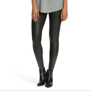 Spanx leather coated leggings